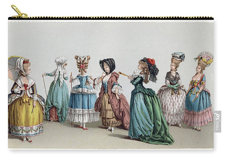 1740s Carry-all Pouch featuring the drawing France Fashion, C1730 by Granger