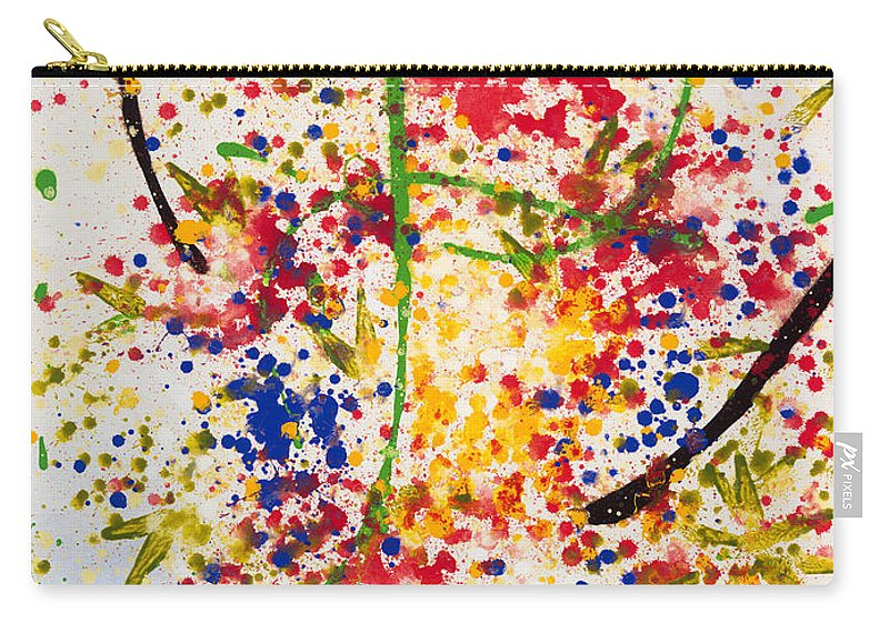 Colorchrome Scans Carry-all Pouch featuring the painting Freedom by Jerome Lawrence