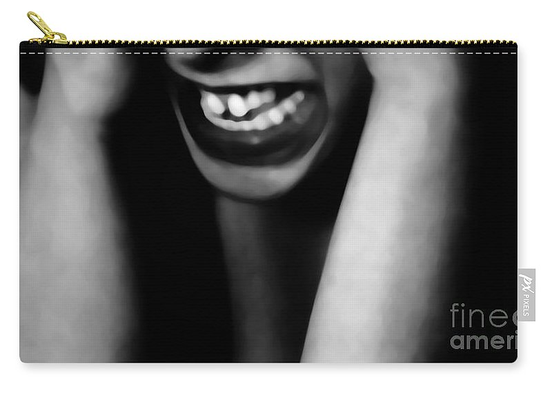 Black Carry-all Pouch featuring the photograph Frustration by Jessica Shelton