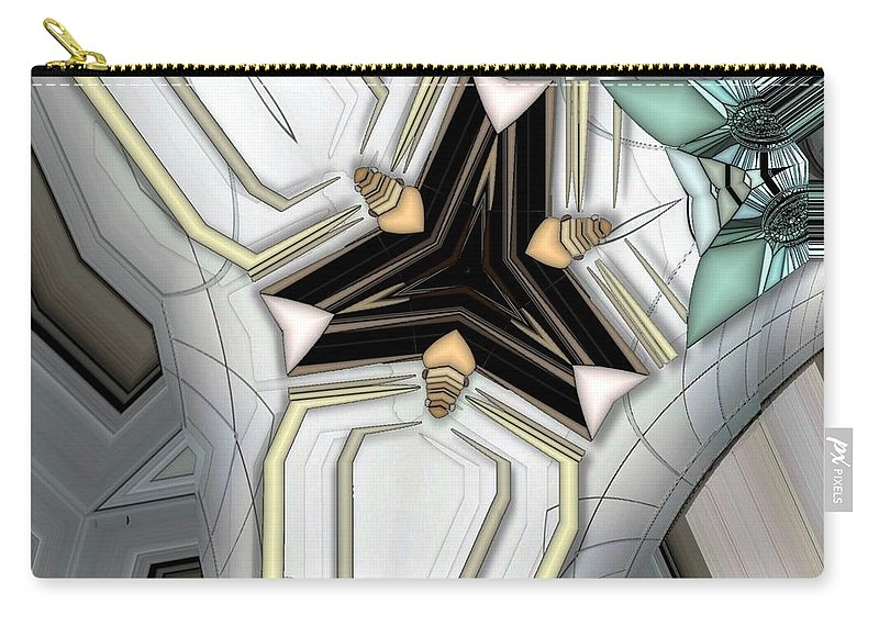 Abstract Carry-all Pouch featuring the digital art Game Board by Ron Bissett