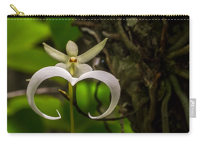 Ghost Orchid Carry-all Pouch featuring the photograph Ghost Orchid by Dennis Goodman