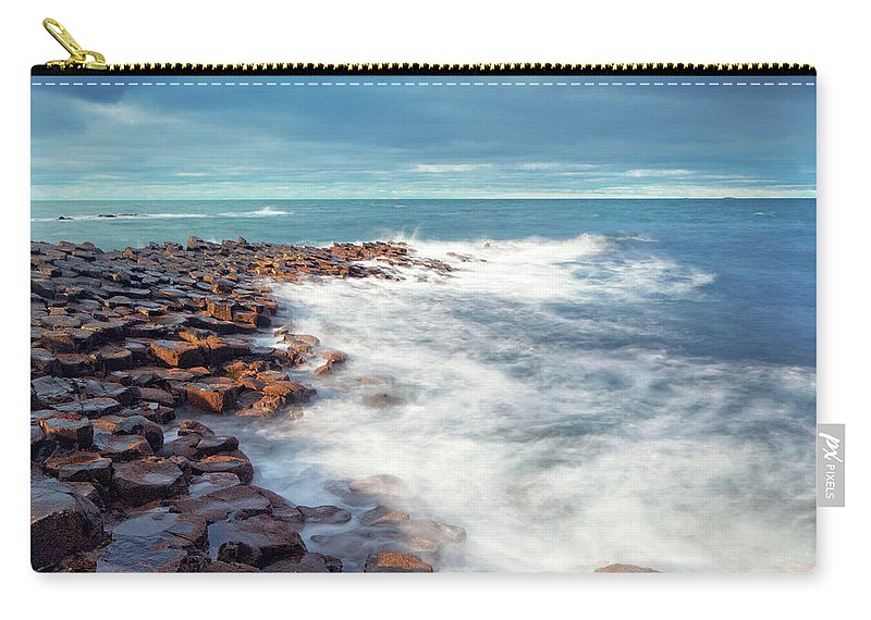 Water's Edge Carry-all Pouch featuring the photograph Giants Causeway On A Cloudy Day by Mammuth