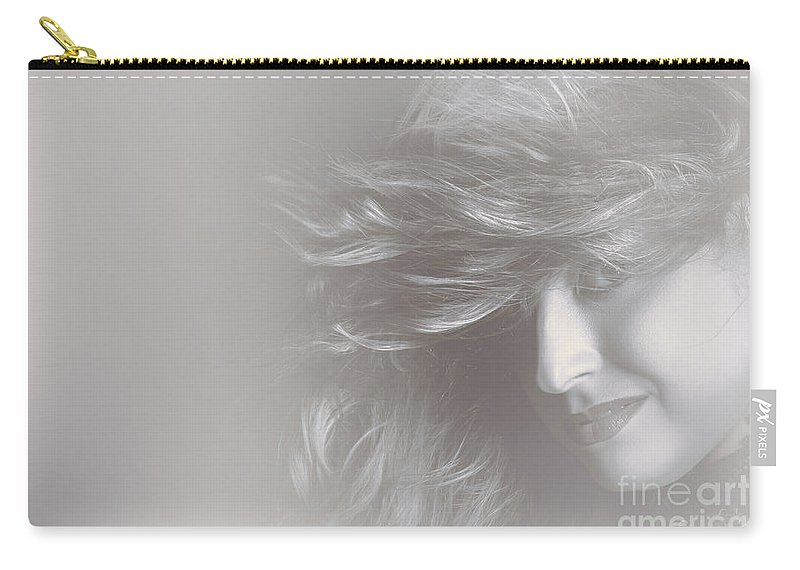 Beautiful Carry-all Pouch featuring the photograph Glamorous Girl With Luxury Salon Hair Style by Jorgo Photography - Wall Art Gallery