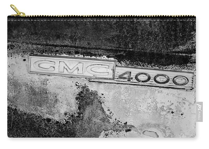 Gmc 4000 V6 Pickup Truck Side Emblem Carry-all Pouch featuring the photograph Gmc 4000 V6 Pickup Truck Side Emblem by Jill Reger