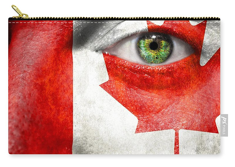 Art Carry-all Pouch featuring the photograph Go Canada by Semmick Photo