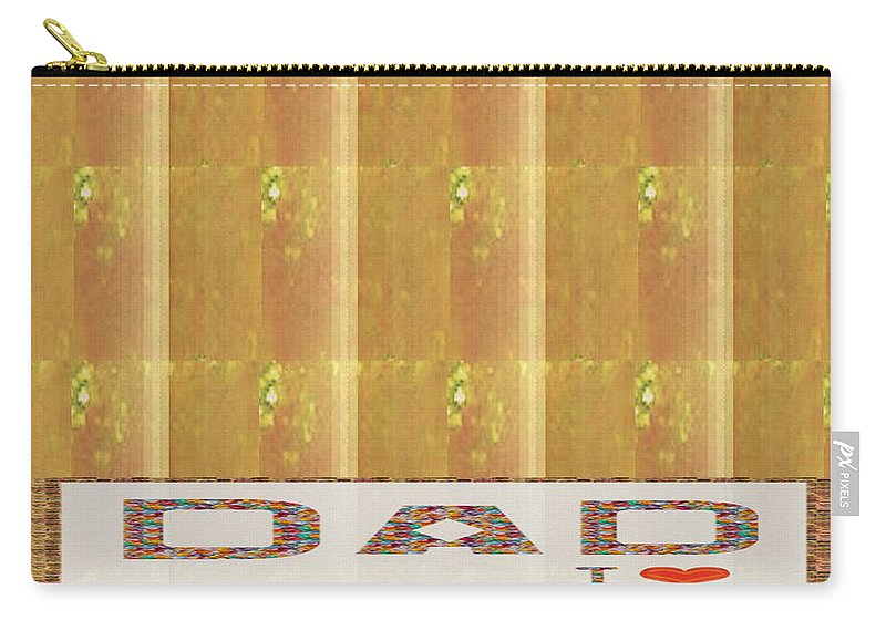 Dad Carry-all Pouch featuring the mixed media Gold Embossed Foil Art For Dad Digital Graphic Signature  Art Navinjoshi Artist Created Images T by Navin Joshi