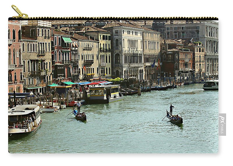 Grand Canal Carry-all Pouch featuring the photograph Grand Canal by Ellen Henneke