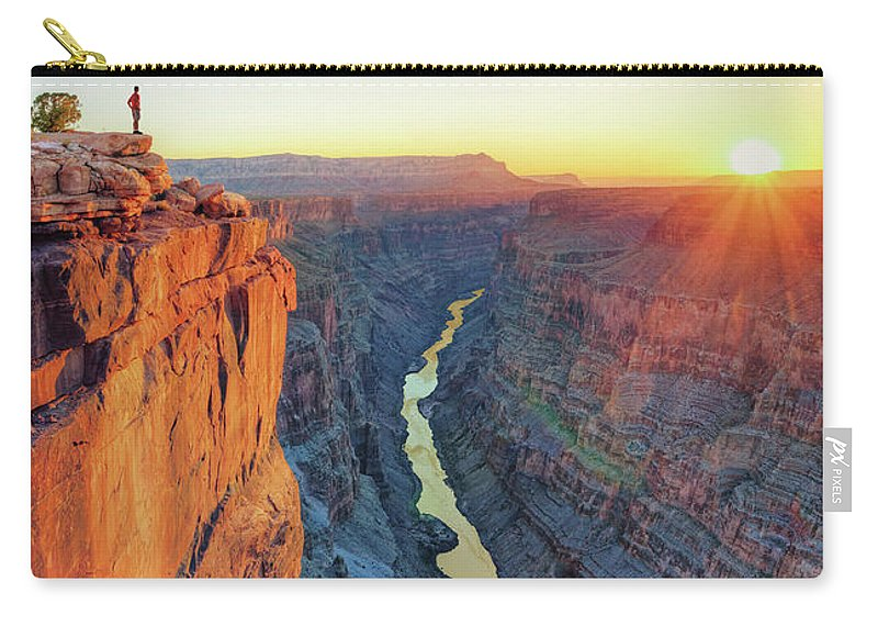 Scenics Carry-all Pouch featuring the photograph Grand Canyon, Toroweap Lookout by Michele Falzone