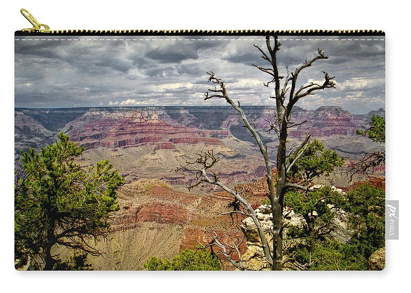 Art Carry-all Pouch featuring the photograph Grand Canyon View From The South Rim by Randall Nyhof