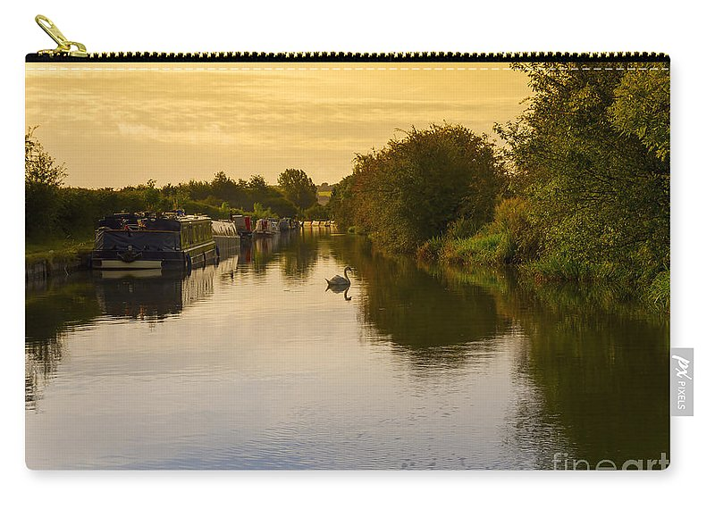 Grand Union Carry-all Pouch featuring the photograph Grand Union Canal In Berkhampsted by Louise Heusinkveld