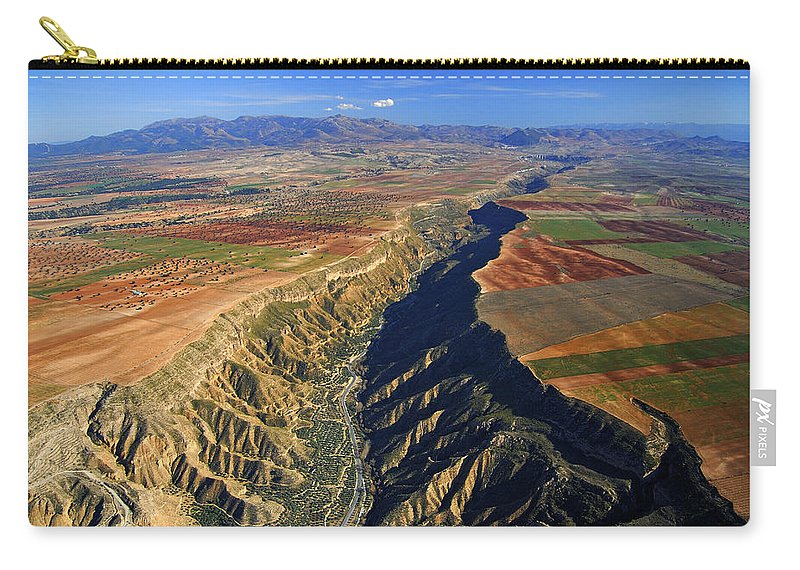 Aerial Carry-all Pouch featuring the photograph Great Canyon River Gor In Spain by Guido Montanes Castillo