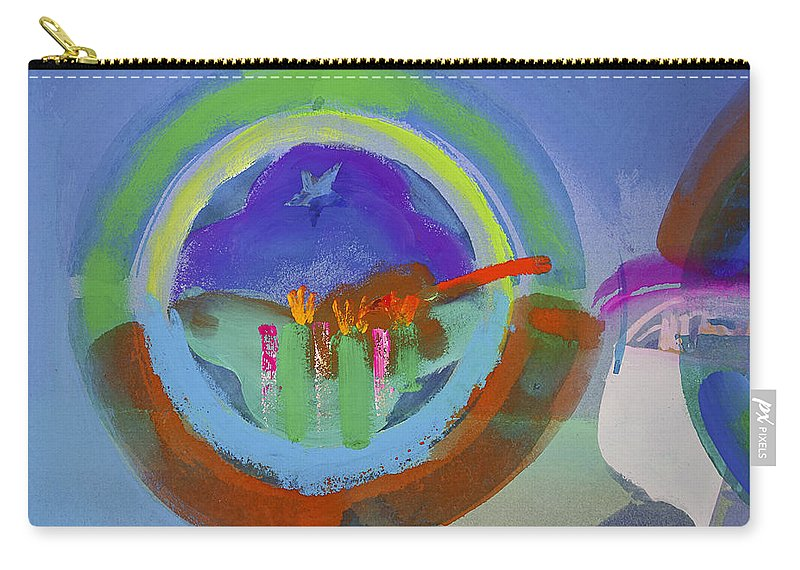 Texas Art Carry-all Pouch featuring the painting Great Glad Morning by Charles Stuart