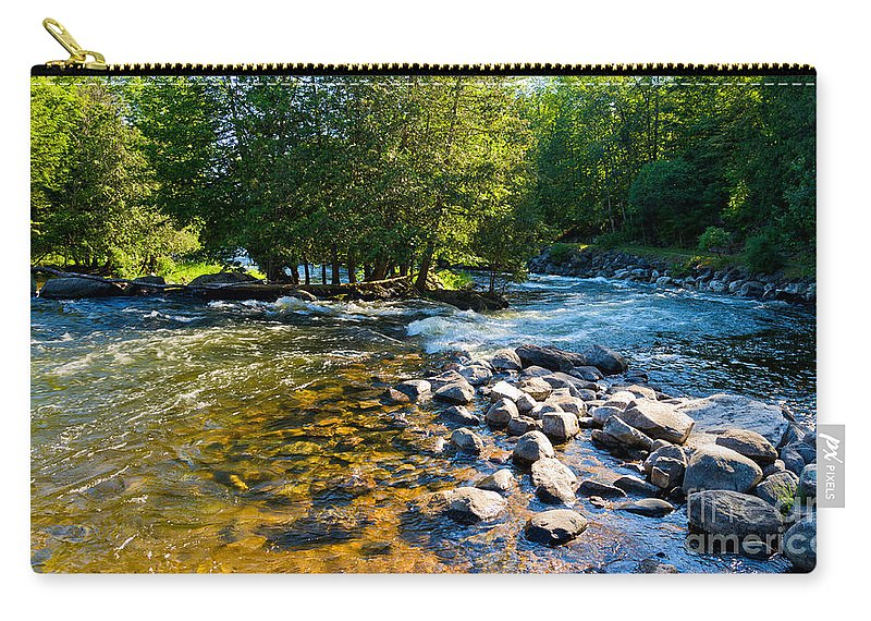 Gull Carry-all Pouch featuring the photograph Gull River by Les Palenik