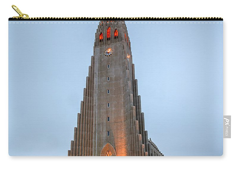 Europe Carry-all Pouch featuring the photograph Hallgrimskirkja Church by Alexey Stiop