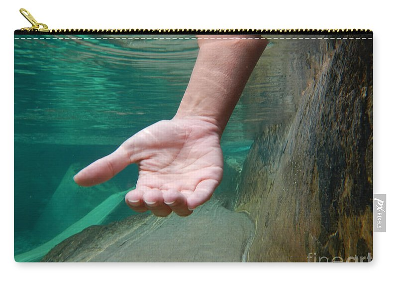 Hand Carry-all Pouch featuring the photograph Hand by Mats Silvan