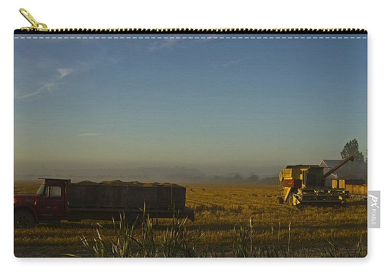 Farm Carry-all Pouch featuring the photograph Harvest Time by Rob Mclean