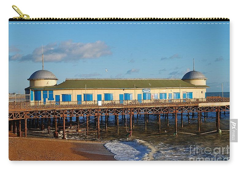 Pier Carry-all Pouch featuring the photograph Hastings Pier by David Fowler