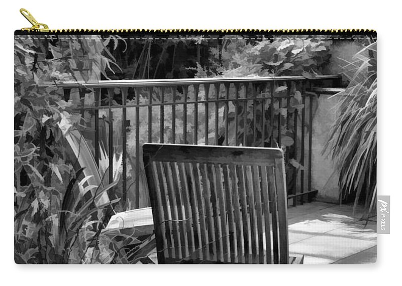 Chair Carry-all Pouch featuring the photograph Have A Seat by Joyce Baldassarre