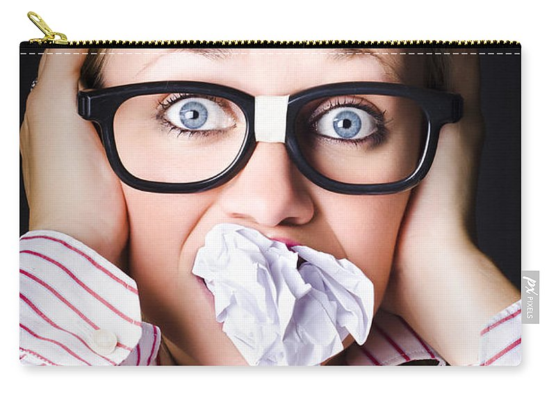 Adult Carry-all Pouch featuring the photograph Hectic Business Person Under Stress Overload by Jorgo Photography - Wall Art Gallery