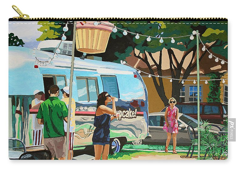 Cupcake Carry-all Pouch featuring the painting Hey Cupcake by Melinda Patrick