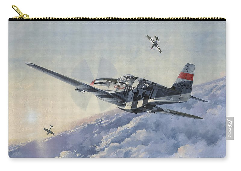 Aviation Art Carry-all Pouch featuring the painting High Angle Snapshot by Wade Meyers