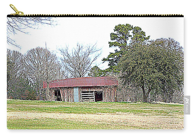 Hilltop Carry-all Pouch featuring the photograph Hilltop Barn by Darrell Clakley
