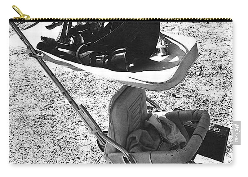 Holster Brief Case Baby Carriage Tombstone Arizona 1970 Carry-all Pouch featuring the photograph Holster Brief Case Baby Carriage Tombstone Arizona 1970 by David Lee Guss