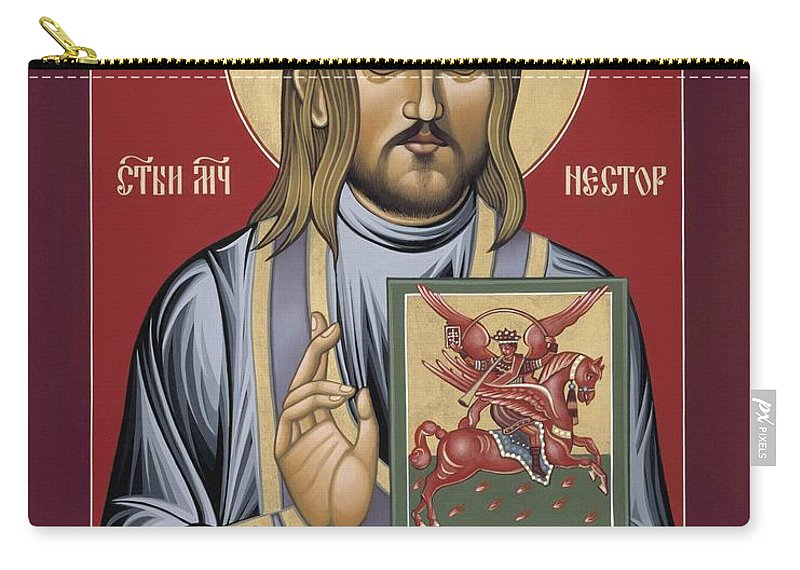 Holy New Martyr Nestor Savchuk Carry-all Pouch featuring the painting Holy New Martyr Nestor Savchuk 069 by William Hart McNichols