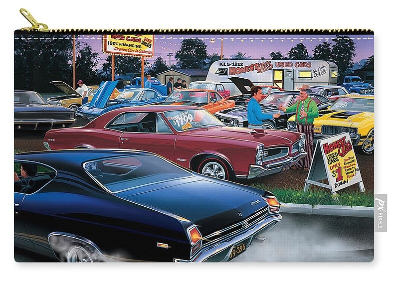 Bruce Kaiser Carry-all Pouch featuring the photograph Honest Als Used Cars by MGL Meiklejohn Graphics Licensing