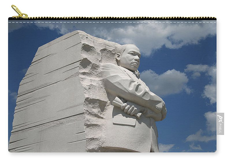 Martin Carry-all Pouch featuring the photograph Honoring Martin Luther King by Cora Wandel