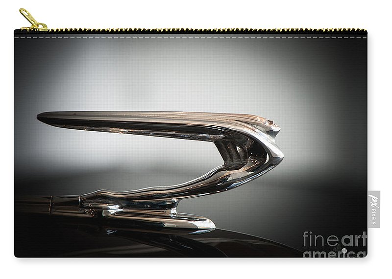 Hood Ornament Carry-all Pouch featuring the photograph Hood Ornament by Ronald Grogan