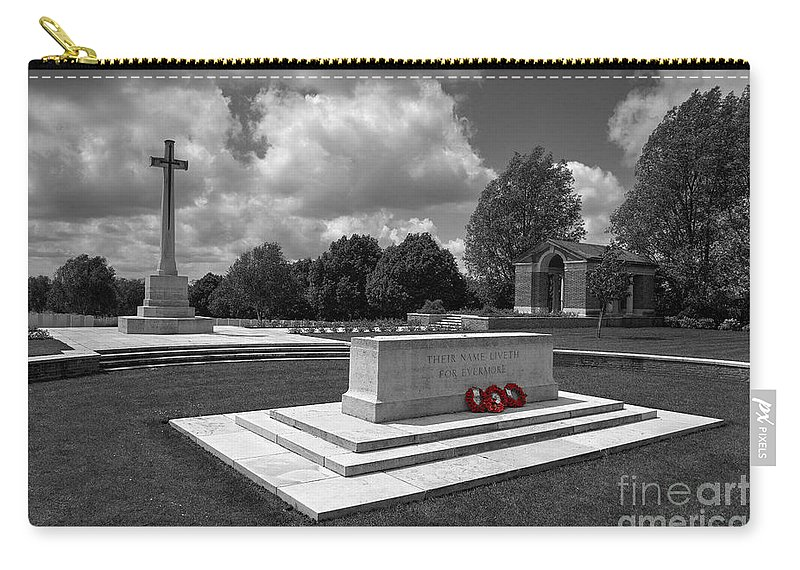 Hooge Carry-all Pouch featuring the photograph Hooge Cemetery by Rob Hawkins