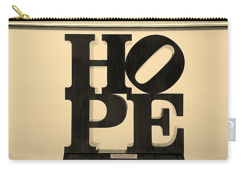 Hope Carry-all Pouch featuring the photograph Hope In Sepia by Rob Hans