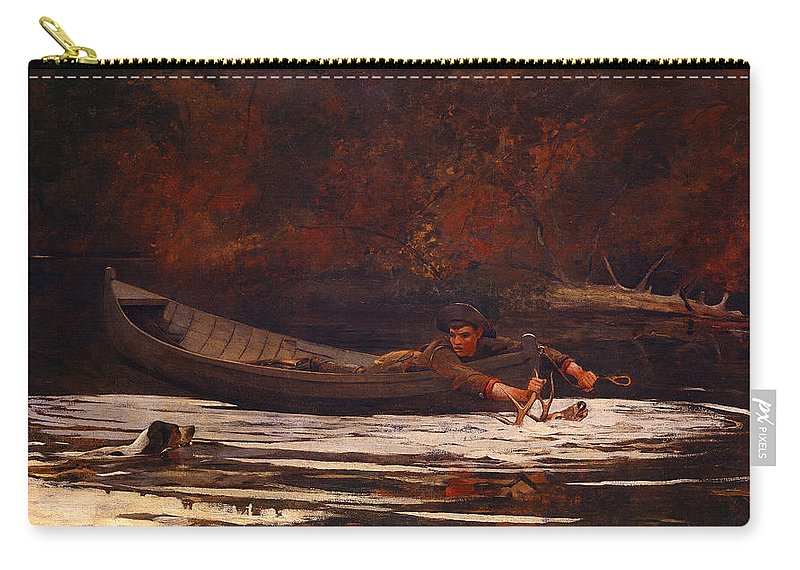 Winslow Carry-all Pouch featuring the painting Hound And Hunter 1892 by Philip Ralley