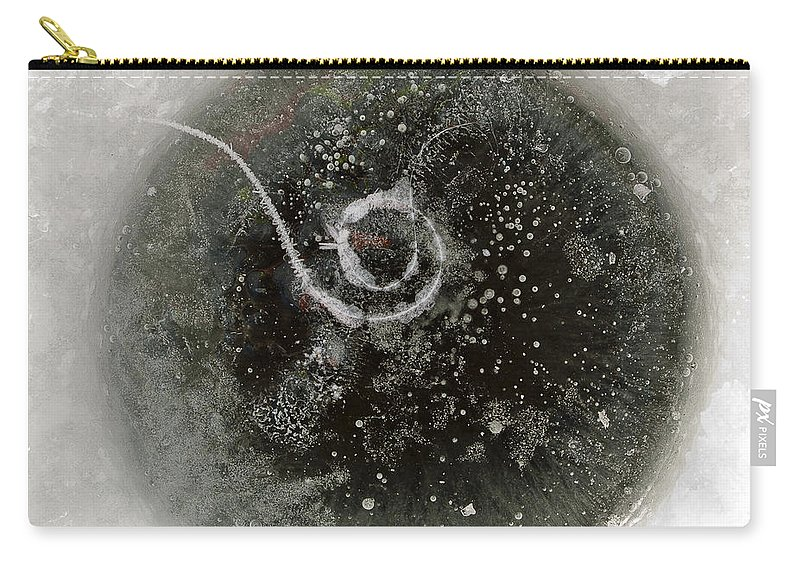 Ice Carry-all Pouch featuring the photograph Ice Fishing Hole by Steven Ralser