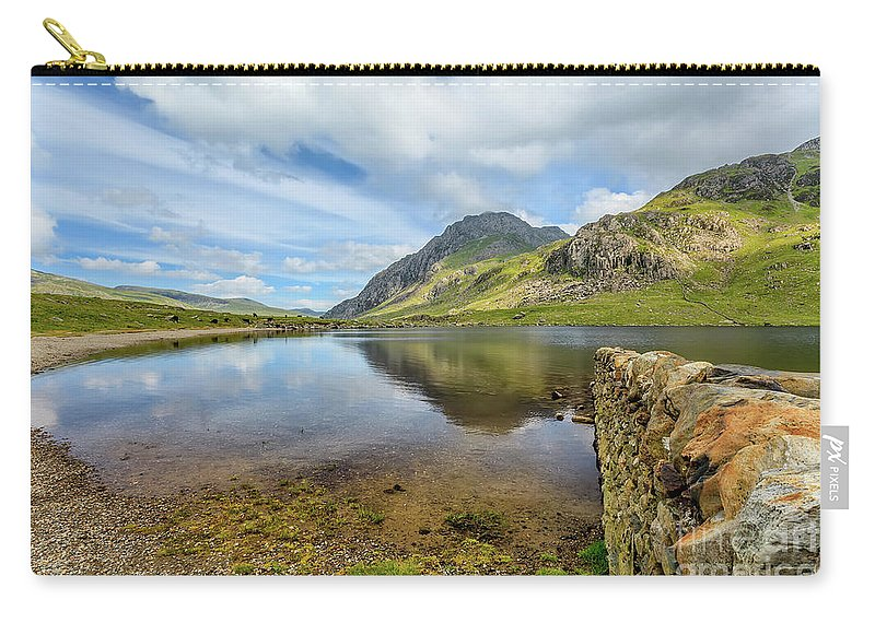 Cwm Idwal Carry-all Pouch featuring the photograph Llyn Idwal Snowdonia by Adrian Evans
