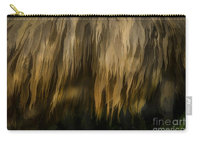 Sheep Carry-all Pouch featuring the photograph Illustration Of Sheep by Dan Yeger