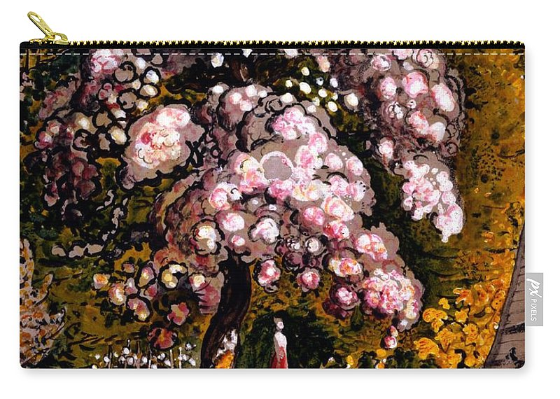 Shoreham Carry-all Pouch featuring the drawing In A Shoreham Garden by Samuel Palmer