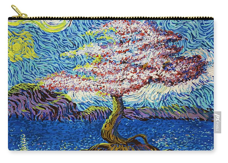 Landscape Carry-all Pouch featuring the painting In The Flow Of Life by Stefan Duncan