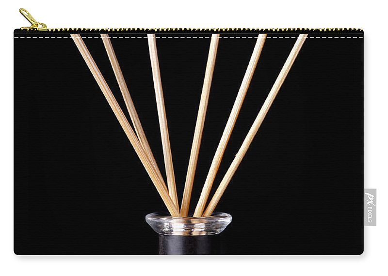 Accessories Carry-all Pouch featuring the photograph Incense Sticks by Tim Hester