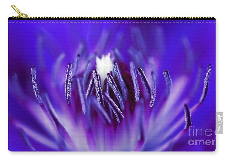 Beautiful Carry-all Pouch featuring the photograph Inside A Flower by Henrik Lehnerer