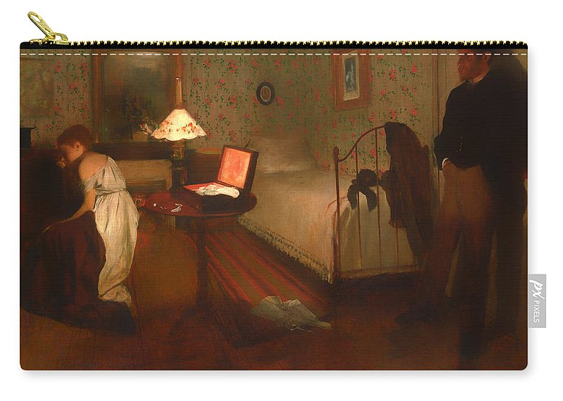 Interior Carry-all Pouch featuring the painting Interior by Edgar Degas