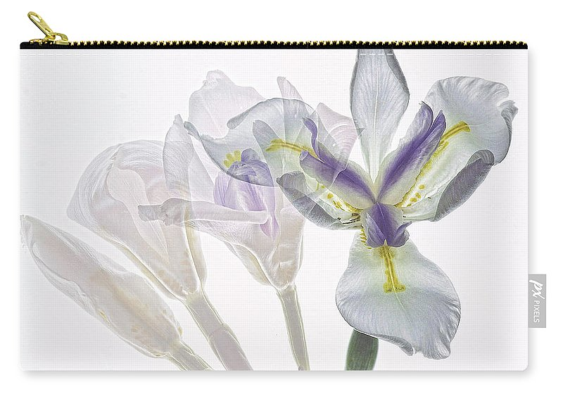 Iris Carry-all Pouch featuring the photograph Iris Evolution by James Ekstrom