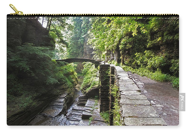 Gorge Carry-all Pouch featuring the photograph Ithaca Gorge by Jessica Jenney