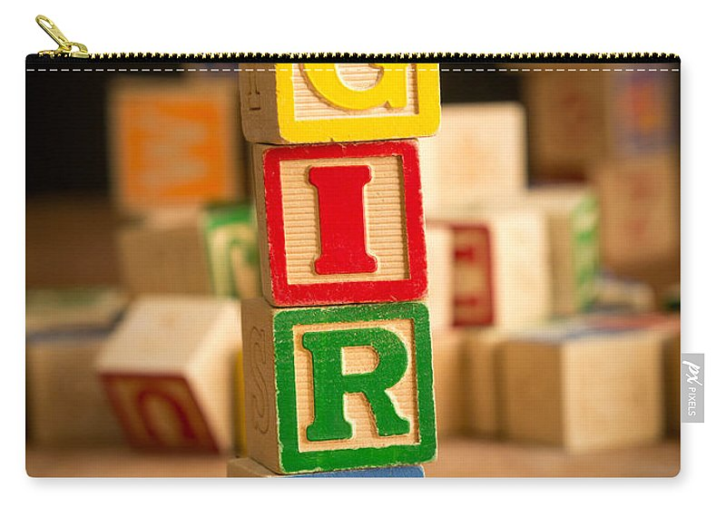 Abs Carry-all Pouch featuring the photograph Its A Girl - Alphabet Blocks by Edward Fielding