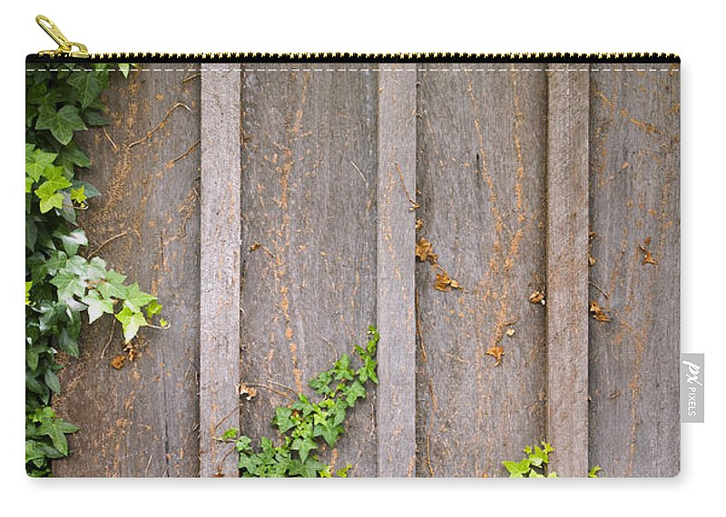Scenics Carry-all Pouch featuring the photograph Ivy Wall Frame by Tim Hester