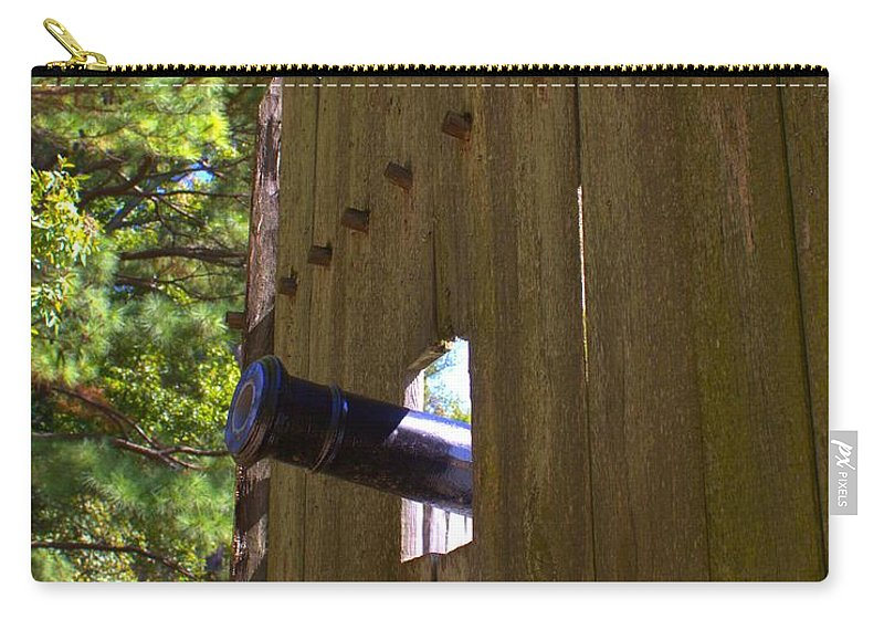Jamestown Carry-all Pouch featuring the photograph Jamestown Fort by John Feiser