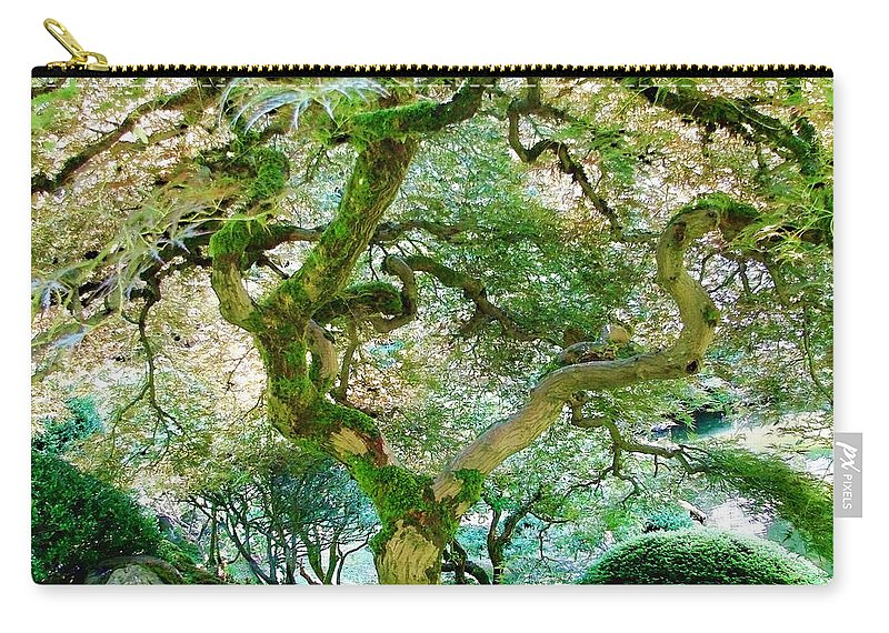 Japanese Maple Tree Carry-all Pouch featuring the photograph Japanese Maple Tree by Athena Mckinzie