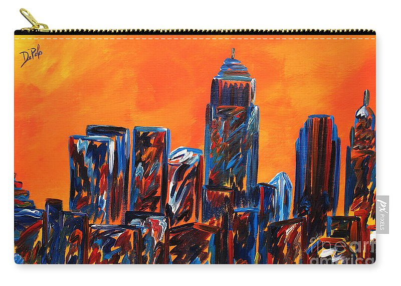 Abstract Carry-all Pouch featuring the painting Jazz by JoAnn DePolo