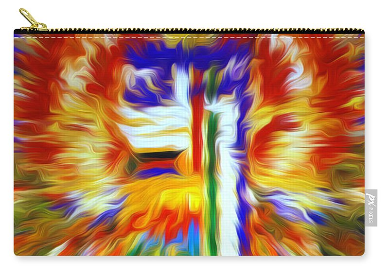 Mandala Medicine Buddha Carry-all Pouch featuring the painting Kalachakra by Jeelan Clark
